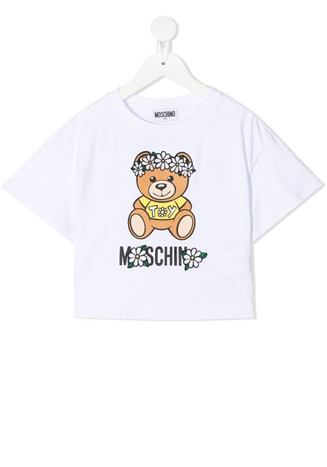 T-shirt bianca MOSCHINO KIDS | T-SHIRT | HDM03QLBA0010101