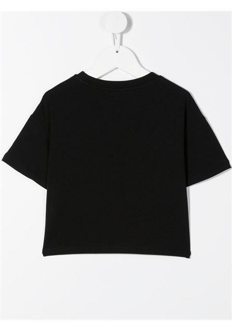 T-shirt nera MOSCHINO KIDS | T-SHIRT | HDM03QLBA0060100