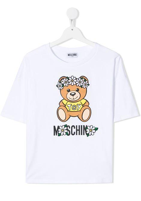 T-shirt bianca MOSCHINO KIDS | T-SHIRT | HDM03QTLBA0010101