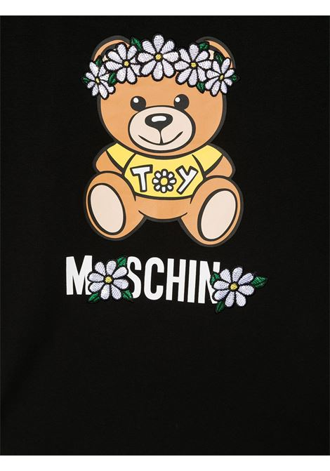 T-shirt nera MOSCHINO KIDS | T-SHIRT | HDM03QTLBA0060100