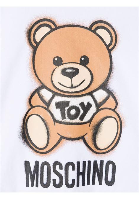 T-shirt bianca MOSCHINO KIDS | T-SHIRT | HDM03XLBA1810101
