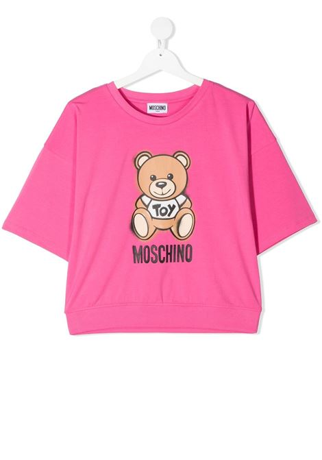T-shirt rosa MOSCHINO KIDS | T-SHIRT | HDM03XLBA1850533
