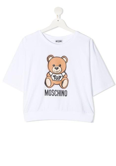 T-shirt bianca MOSCHINO KIDS | T-SHIRT | HDM03XTLBA1810101