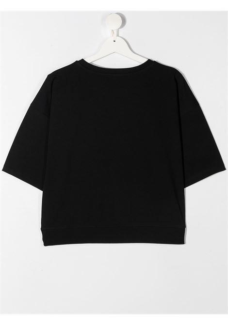 T-shirt nera MOSCHINO KIDS | T-SHIRT | HDM03XTLBA1860100