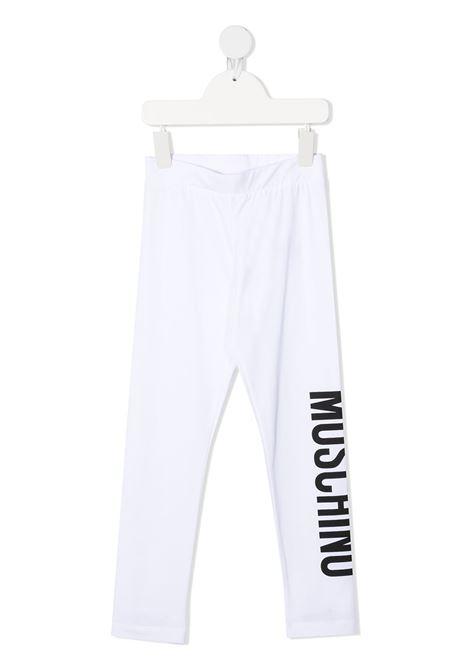 Leggings bianco MOSCHINO KIDS | LEGGINGS | HLP03ULBA0010101
