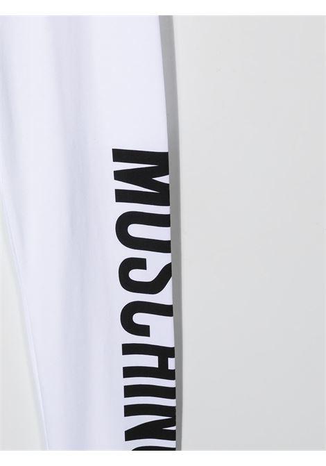 Leggings bianco MOSCHINO KIDS | LEGGINGS | HLP03UTLBA0010101