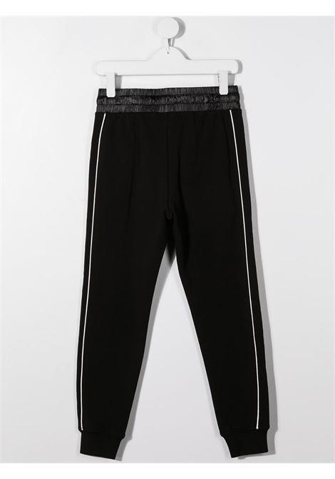Pantalone nero MOSCHINO KIDS | PANTALONI | HUP04KLDA2560100