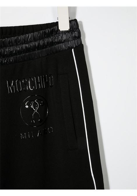 Pantalone nero MOSCHINO KIDS | PANTALONI | HUP04KTLDA2560100