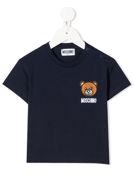 T-shirt blu MOSCHINO KIDS | T-SHIRT | MUM02EBLBA1040016
