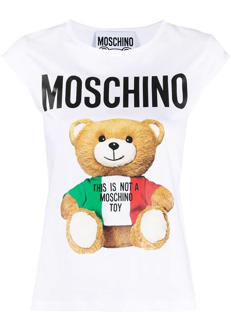 White t-shirt MOSCHINO   T-SHIRT   A07105401001