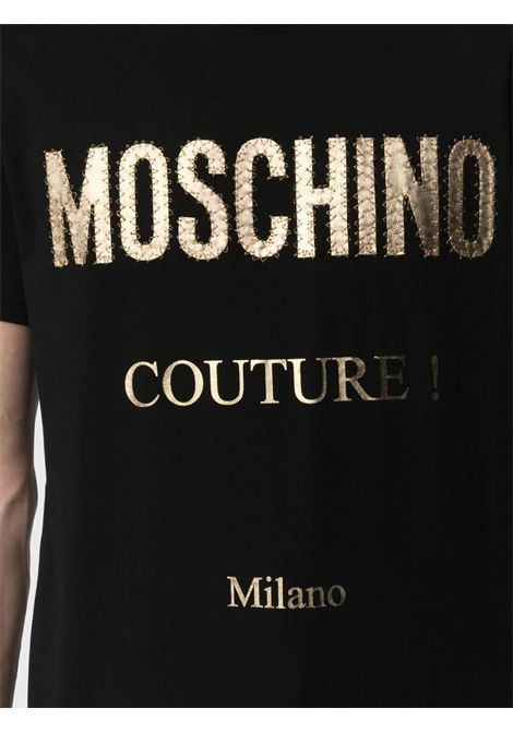 T-shirt nera MOSCHINO | T-SHIRT | A07712401555