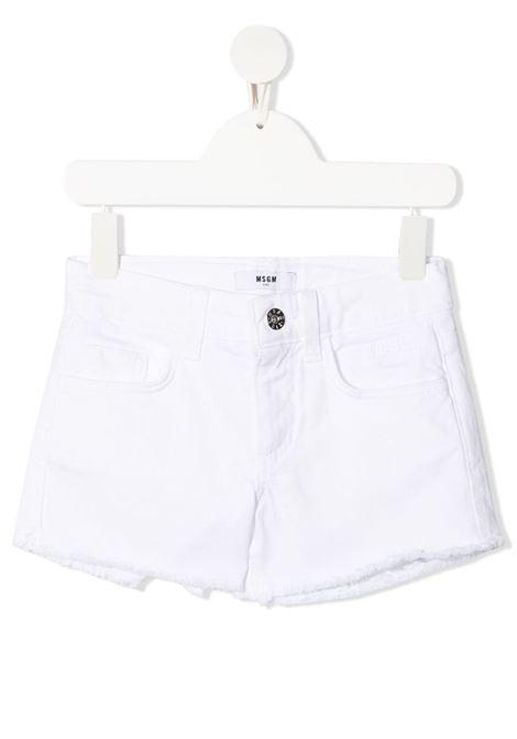 Short bianco MSGM KIDS | JEANS | 026810001