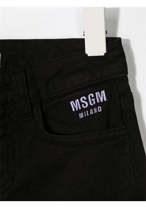 Shorts nero MSGM KIDS | JEANS | 026810110