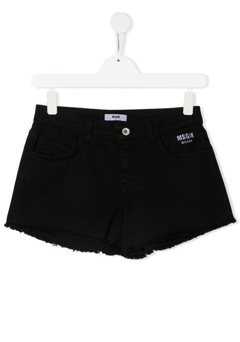 Shorts nero MSGM KIDS | JEANS | 026810T110