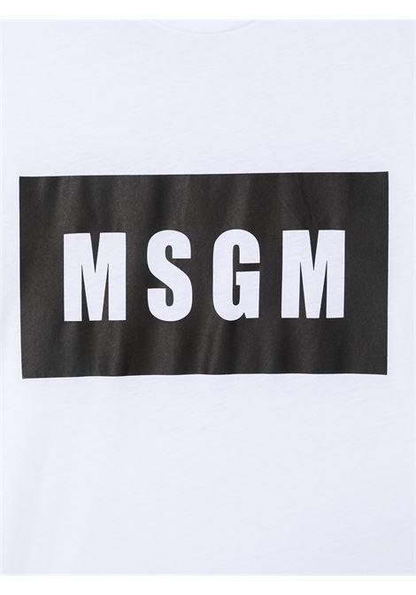 T-shirt bianca MSGM KIDS | T-SHIRT | 026829T001