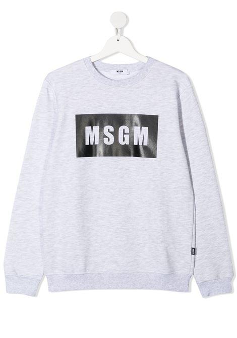Felpa grigia MSGM KIDS | FELPE | 026830T107