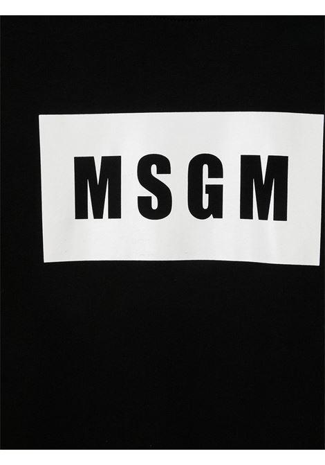 Felpa nera MSGM KIDS | FELPE | 026830T110