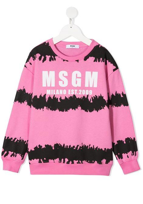 Felpa rosa MSGM KIDS   FELPE   026932042