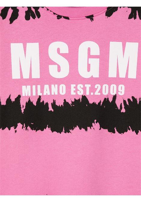 Felpa rosa MSGM KIDS | FELPE | 026932042