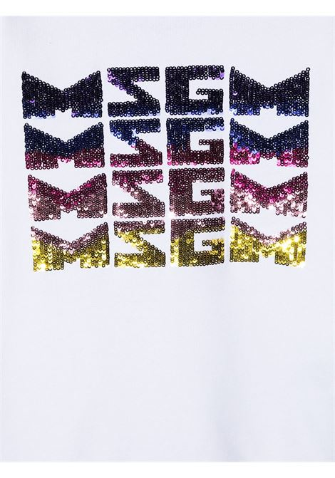 Felpa bianca MSGM KIDS | FELPE | 027081001