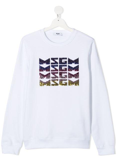 Felpa bianca MSGM KIDS | FELPE | 027081T001