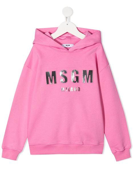 Felpa rosa MSGM KIDS | FELPE | 027388042