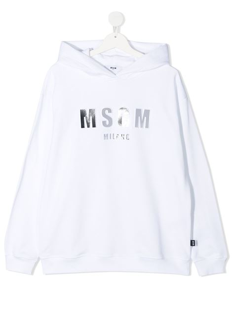 Felpa bianca MSGM KIDS | FELPE | 027388T001