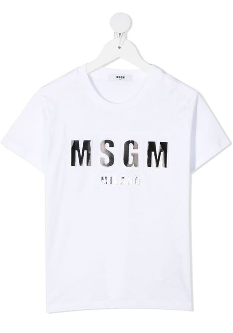T-shirt bianca MSGM KIDS | T-SHIRT | 027389001