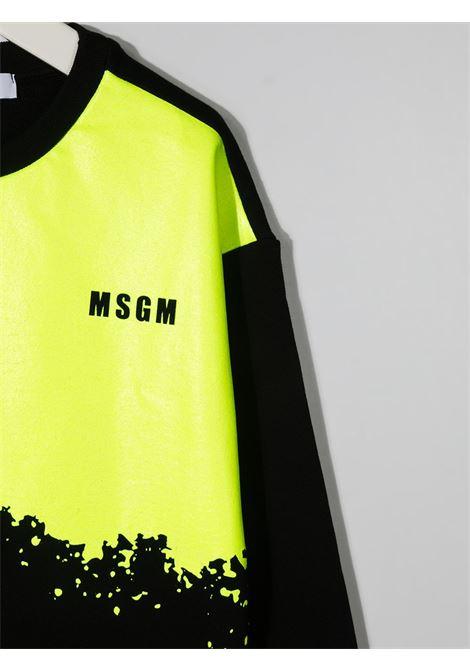 Felpa nera/giallo MSGM KIDS | FELPE | 027611110