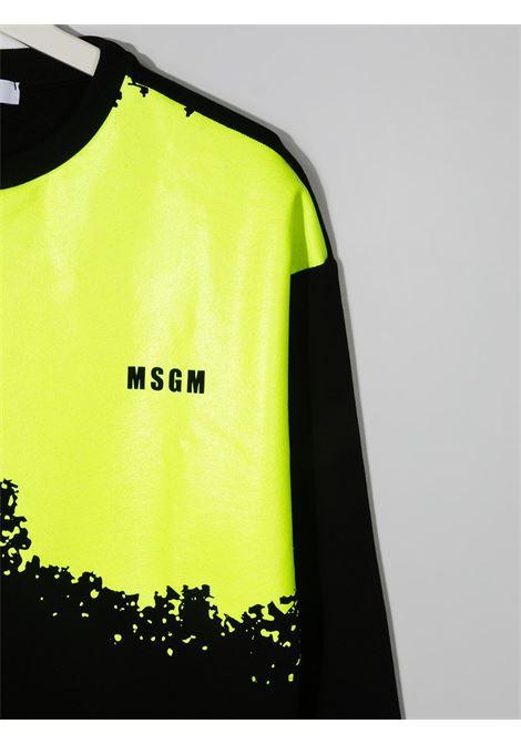Felpa nera/giallo MSGM KIDS | FELPE | 027611T110