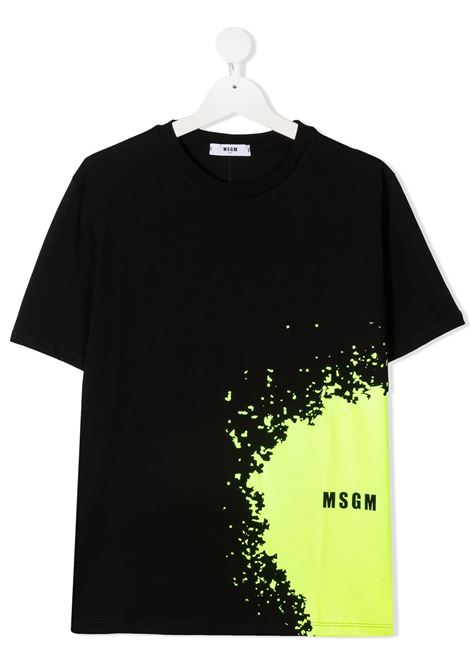 T-shirt nera MSGM KIDS | T-SHIRT | 027614T110