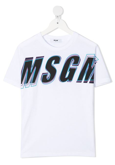 T-shirt bianca MSGM KIDS | T-SHIRT | 027629001