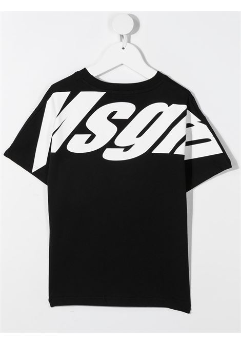 T-shirt nera MSGM KIDS | T-SHIRT | 027638110