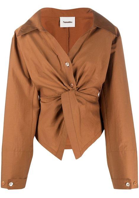 Blusa marrone NANUSHKA | MAGLIE | NW21RSTP01077RUST