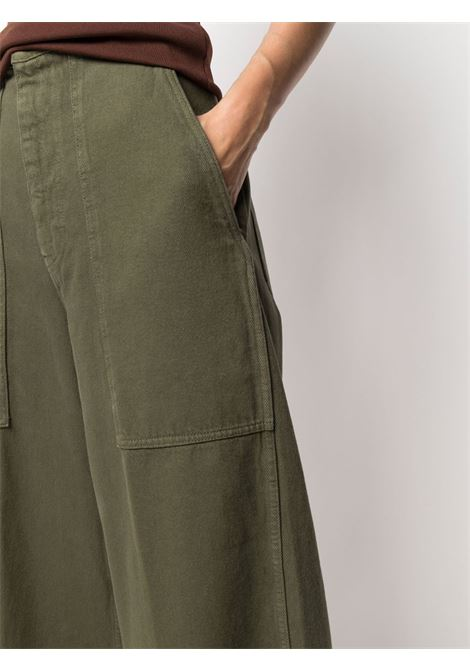 Pantalone verde NINE INTHE MORNING   PANTALONI   9SS21MY15OLIVA