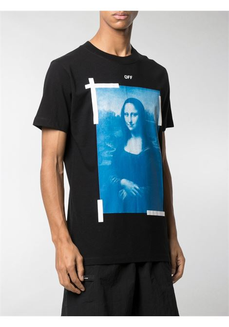T-shirt nera OFF WHITE   OMAA027R21JER0021001