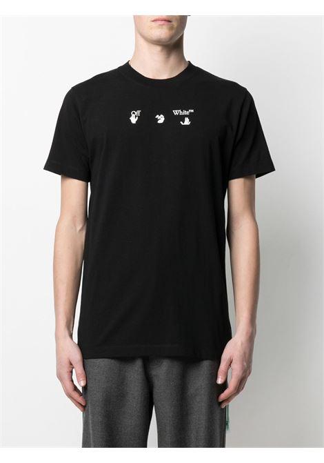 T-shirt nera OFF WHITE   OMAA027S21JER0121055