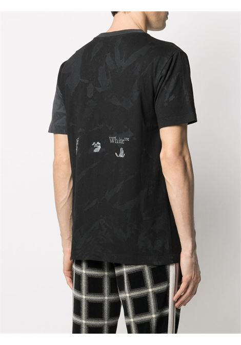 T-shirt nera OFF WHITE   T-SHIRT   OMAA038R21JER0141009
