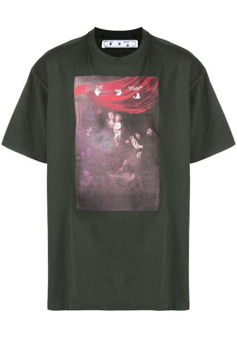 Green t-shirt OFF WHITE | T-SHIRT | OMAA038S21JER0055901