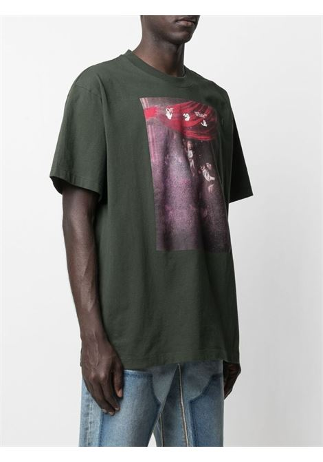 T-shirt verde OFF WHITE | T-SHIRT | OMAA038S21JER0055901