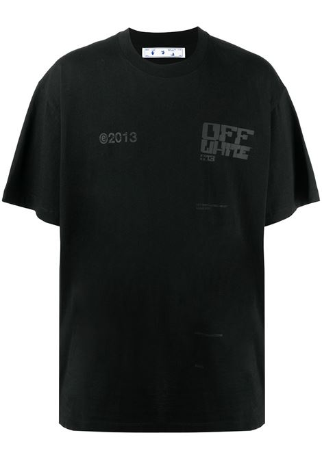 T-shirt nera OFF WHITE   OMAA038S21JER0081010