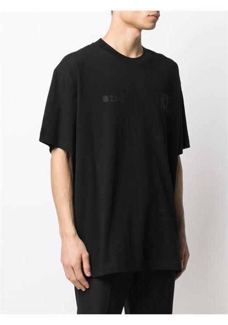 T-shirt nera OFF WHITE   T-SHIRT   OMAA038S21JER0081010