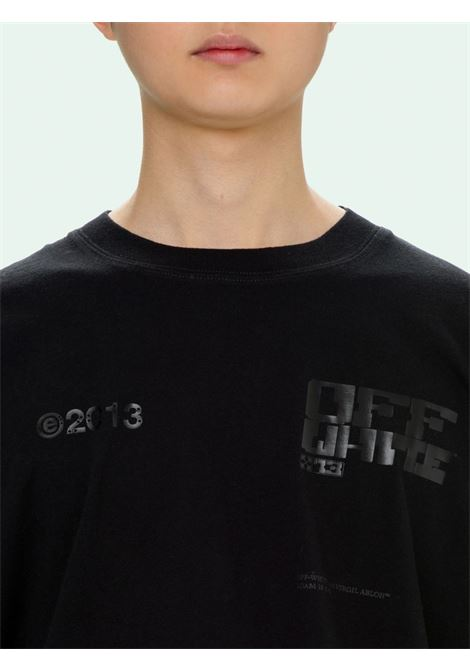 T-shirt nera OFF WHITE | T-SHIRT | OMAA038S21JER0081010