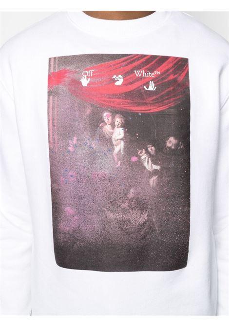 White sweatshirt OFF WHITE | SWEATSHIRTS | OMBA025S21FLE0090101