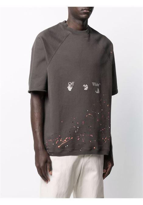 Grey sweatshirt OFF WHITE | SWEATSHIRTS | OMBA050S21FLE0020601