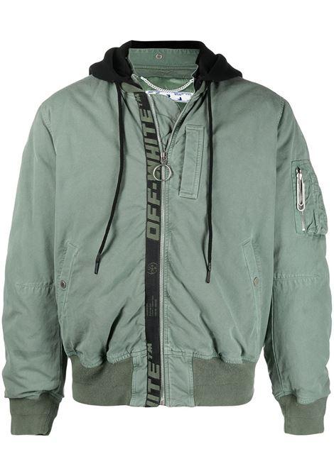 Bomber verde OFF WHITE | OMEH028R21FAB0015910