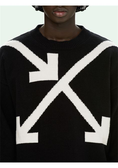 Maglione nero OFF WHITE | MAGLIONE | OMHA036S21KNI0021001