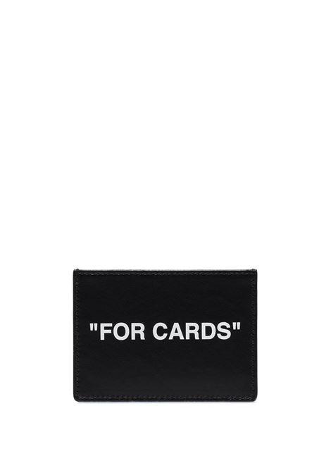 Portacarte OFF WHITE | PORTACARTE | OMND017R21LEA0011001