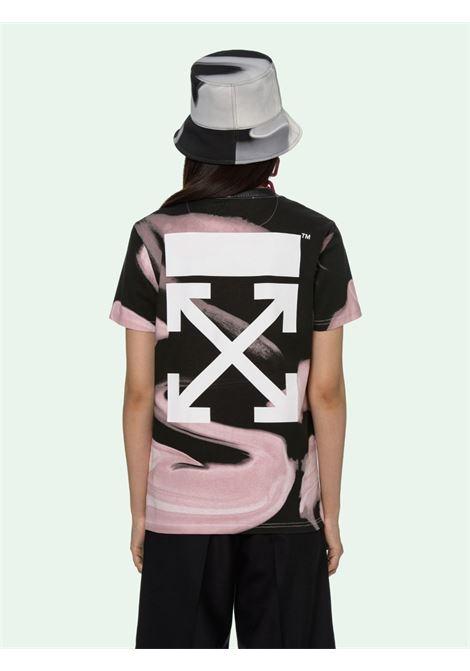 T-shirt nera/rosa OFF WHITE | T-SHIRT | OWAA049R21JER0023101