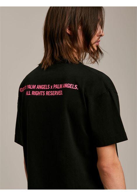 T-shirt nera PALM ANGELS   T-SHIRT   PMAA001S21JER0081032